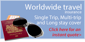 Worldwide Travel Insurance: Click for an instant quote